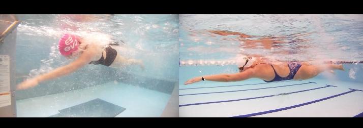 Initiating the catch - fingertips below the wrist, wrist below the elbow
